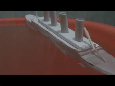 How To Make The Titanic Out Of Paper - titanic paper model sinking fail