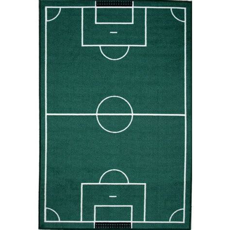 soccer rugs carpets la rug time soccerfield multi colored 39 in x 58 in area rug ft 134 3958 the home depot