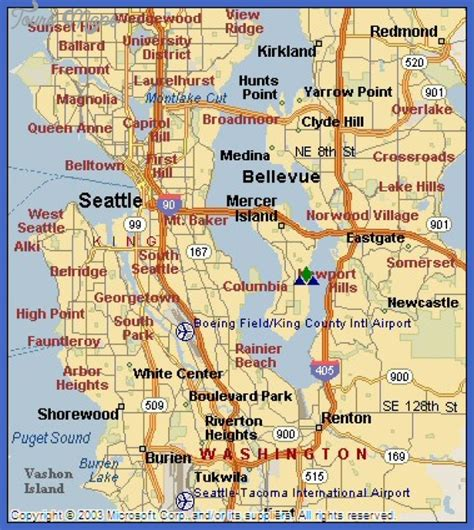 seattle map metro seattle subway map toursmaps
