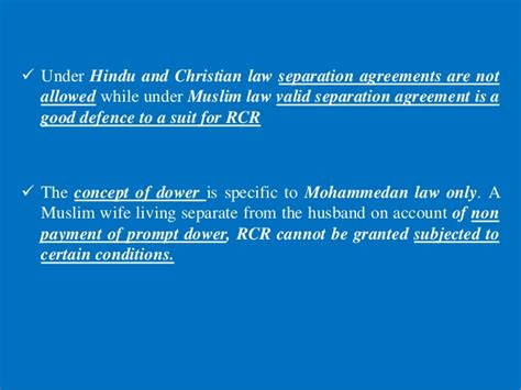 section 14 of hindu marriage act restitution of conjugal rights a comparativestudy