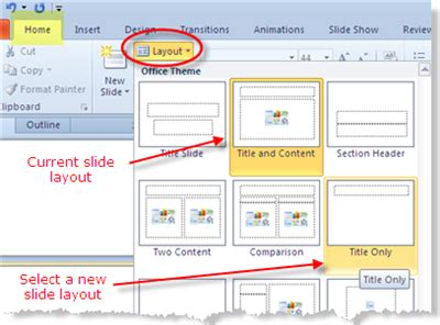 how to change layout design in powerpoint presentation software ms powerpoint kullabs com