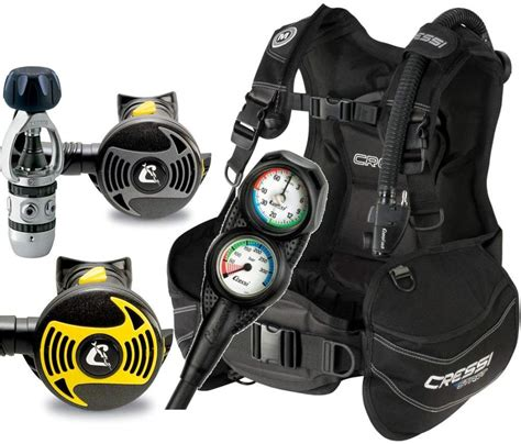 dive package cressi start scuba diving bcd regulator console octopus
