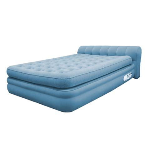inflatable queen bed aerobed elevated mini headboard inflatable air bed mattress twin full queen ebay