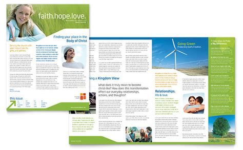 newletter template church youth ministry newsletter template design