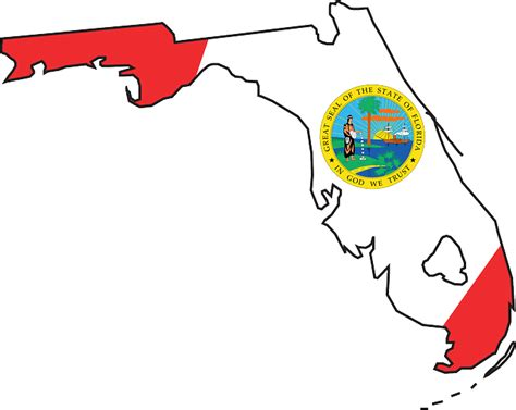 Florida State Outline Png by Florida State Flag Coloring Page Clipart Best