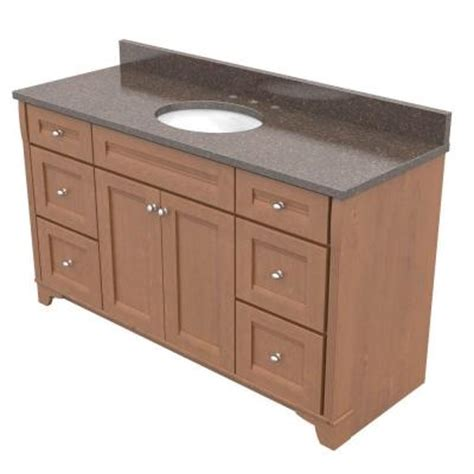 Kraftmaid Vanity Tops by Kraftmaid 60 In Vanity In Praline With Quartz