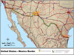 border between us and canada map mexico united states border