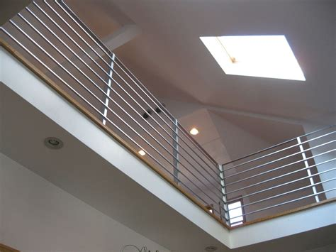 contemporary banisters hand made modern interior railing by bader art metal fabrication custommade com