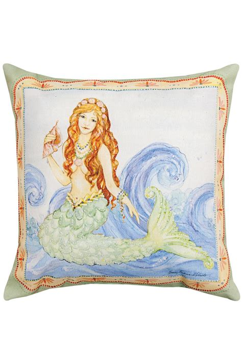 manual woodworkers and weavers mermaid pillow from