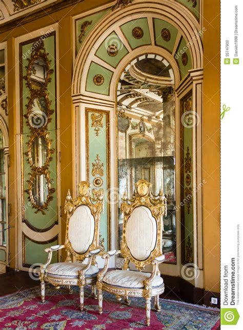 Rococo Chandelier Interior Palacio Nacional Queluz Portugal Foto De