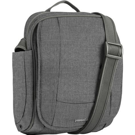and shoulders color safe pacsafe metrosafe 200 gii shoulder bag tweed gray
