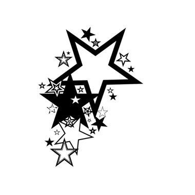 Tribal Sterne 5105 by Tribal Sterne Tribal Mit Blau Grauen Sternen