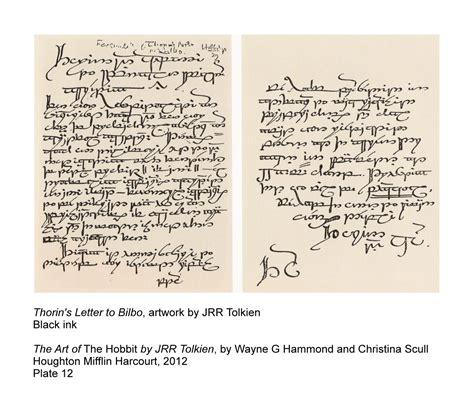 Letter Hobbit Thorin S Letter To Bilbo Things Henneth 251 N