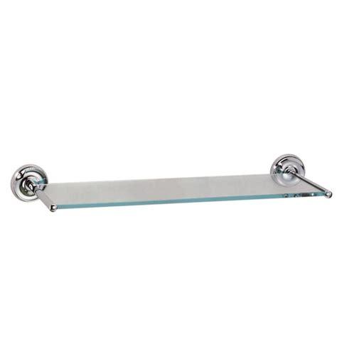 shop gatco designer chrome glass bathroom shelf at lowes com