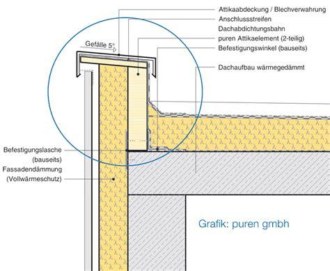 lade da esterno a muro holzbau flachdach detail emphit