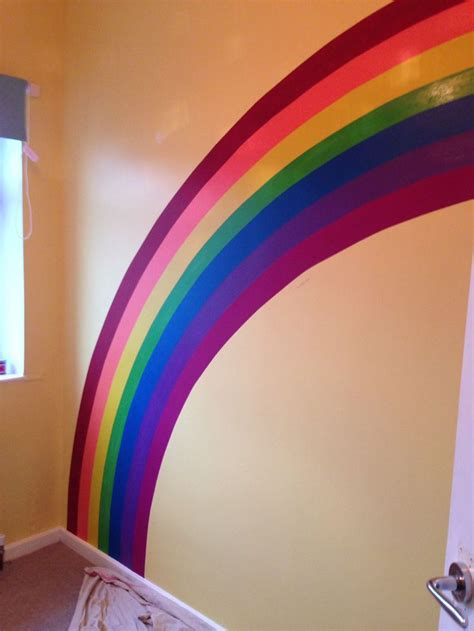 rainbow wall mural best 25 rainbow wall ideas on rainbow room