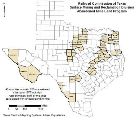 texas rrc coal mining counties