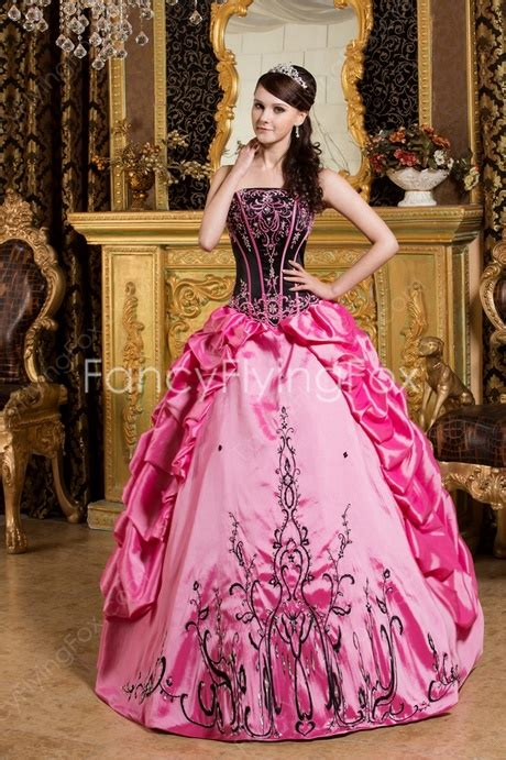Dress Sweet Pink quinceanera dresses pink and black