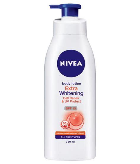 Nivea Lotion Uv Whitening 400ml nivea whitening cell repair uv protect lotion 400ml price in india as on 2014 november 21