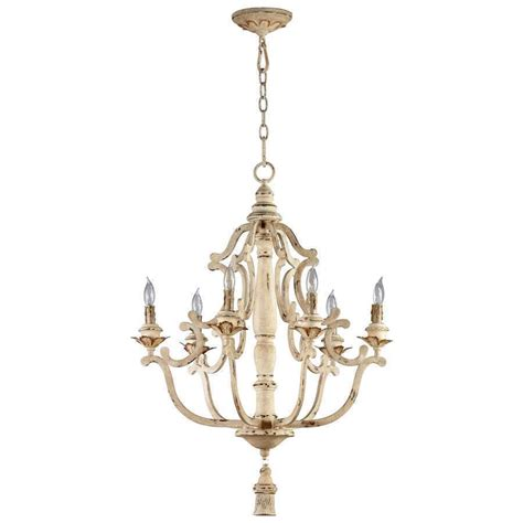 Country Chic Chandelier Primitive Rustic Country Antique Style Maison Chandelier 6 Light 04633 Ebay