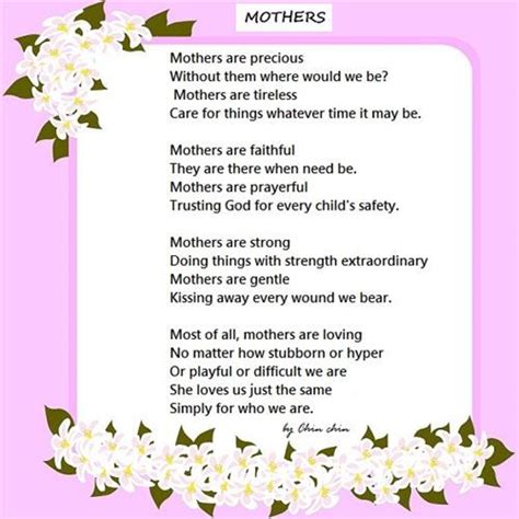 poems for parents mothers day poems search poams for home made