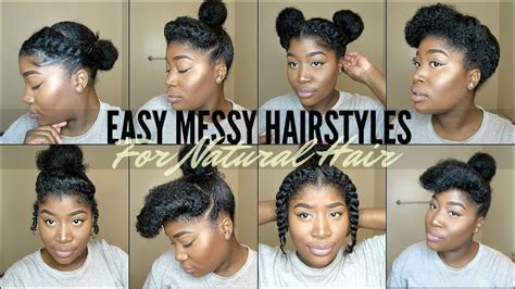 when being natural what kind of hairstyles to wear 8 quick easy natural hairstyles for 4 type natural hair