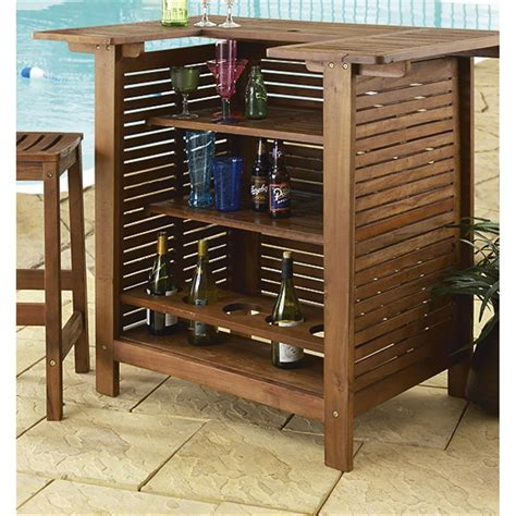 Vegas Storage Bar Table 3 Pc Vegas Bar Set 131143 Patio Furniture At Sportsman S Guide