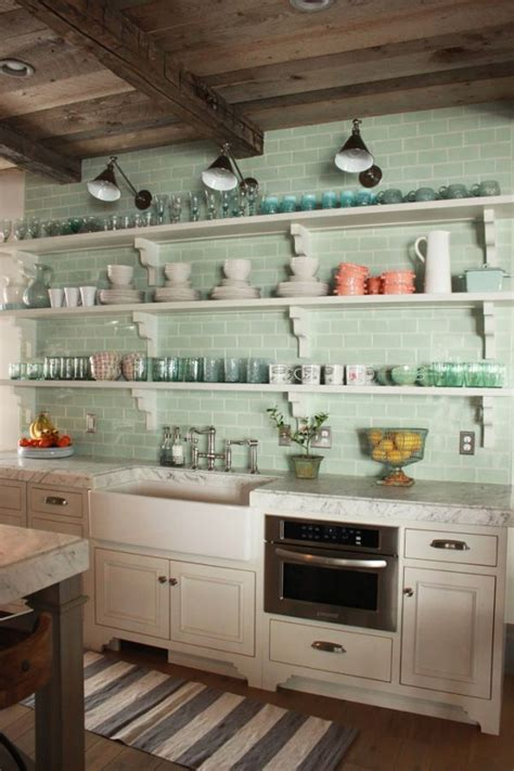 Glass Kitchen Tile Backsplash Ideas by 28 Ideas Para Decorar Una Cocina Al Estilo Vintage Verte