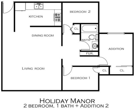 2 bedroom addition floor plans floor plans holiday manor