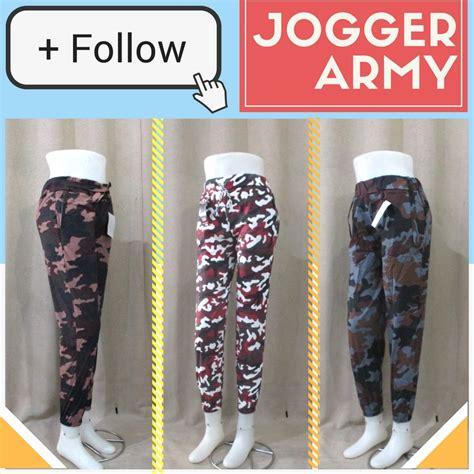 Jogger Army Cotton Strech Terlaris Dan Termurah distributor celana jogger army wanita dewasa murah di 22ribu