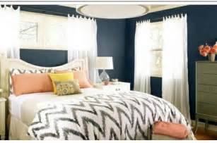 Blue White And Peach Bedroom Dream House Pinterest