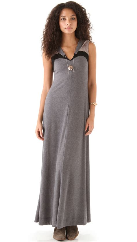 Zambos Vintage Couture Couture In The City Fashion Couture In The City by Zambos Vintage Couture Joey Hooded Dress In Gray Lyst