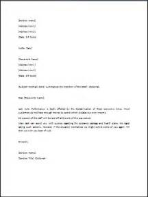 layoff letter template sle layoff letter template formal word templates