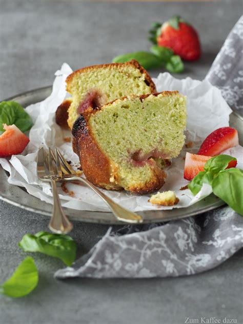 erdbeeren kuchen basilikum kuchen mit erdbeeren zum kaffee dazu