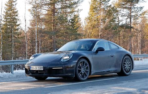 new porsche 2019 porsche 911 992 generation spy shots and first details