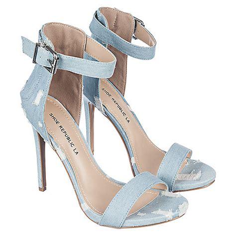light blue womens dress shoes shoe republic la edwin s light blue denim high heel