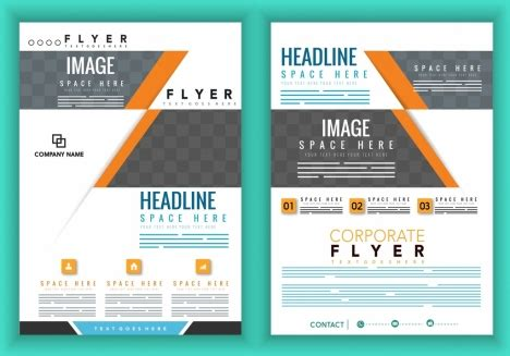 templates flyers cdr corporate brochure cover template modern white grey design