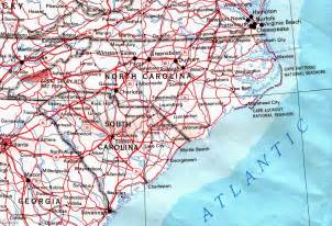 coastal carolina map map of carolina coast bnhspine