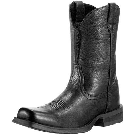mens black cowboy boots 100 s ariat 174 11 quot rambler square toe cowboy boots black