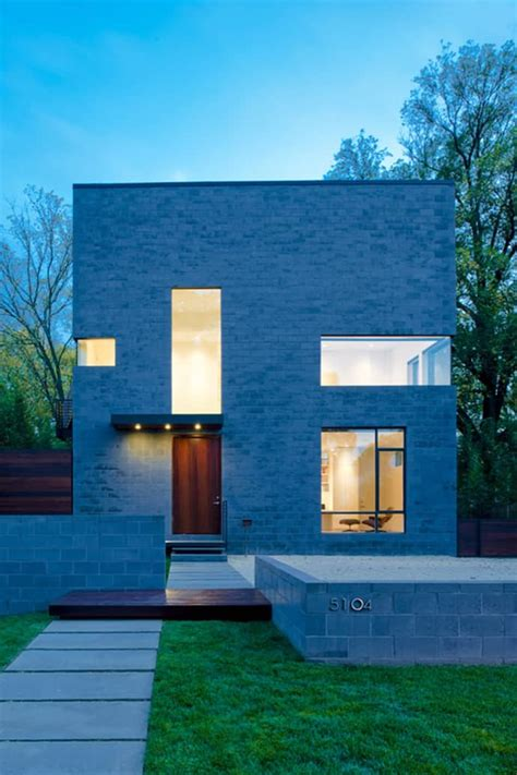 minimal urban house with cube shape design hden lane hden lane house energy efficient small home in