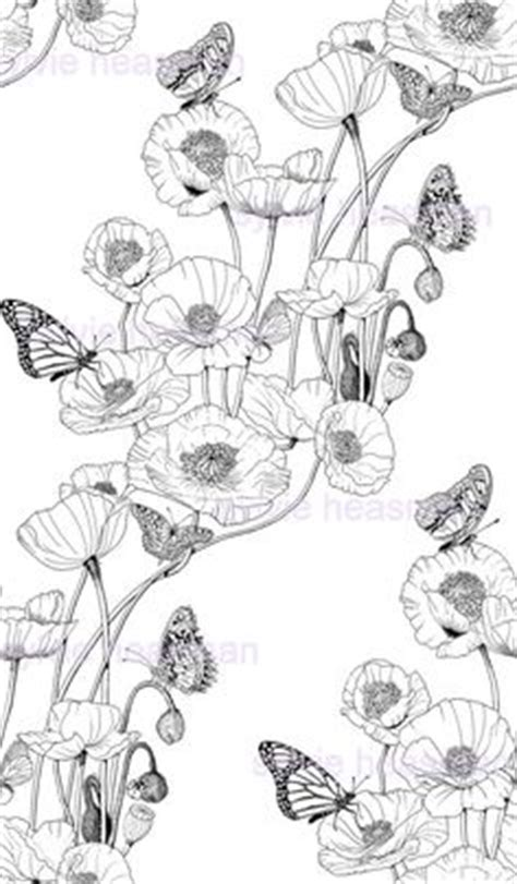 poppies poppy drawing and black and white sketches on