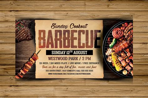 Barbecue Bbq Flyer Template Free