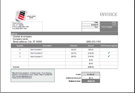 editable printable ms excel format sales invoice excel