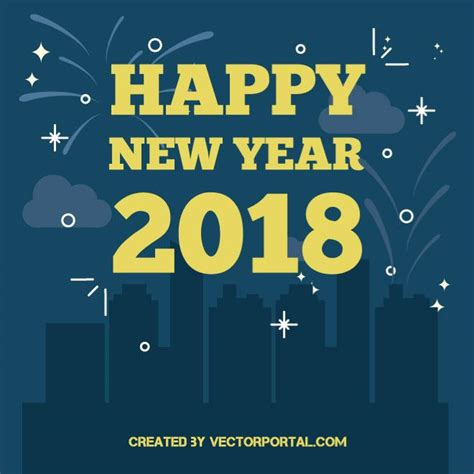 happy new year 2018 text happy new year 2018 vector image at vectorportal