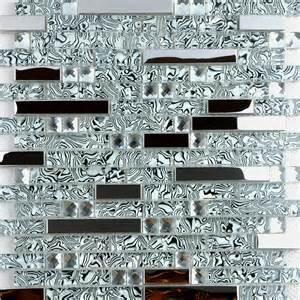 Metallic Mosaic Bathroom Tiles Wholesale 304 Stainless Steel Sheet Metal And Crystal