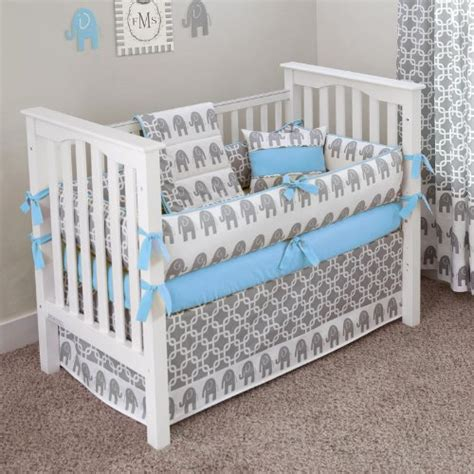Blue Crib Bedding Blue And Gray Nursery Bedding Images