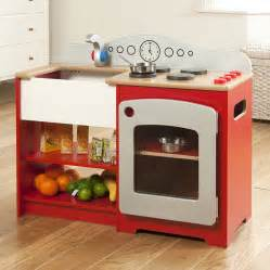 Kitchen Center Island With Seating kids play kit wooden red country play kitchen by millhouse