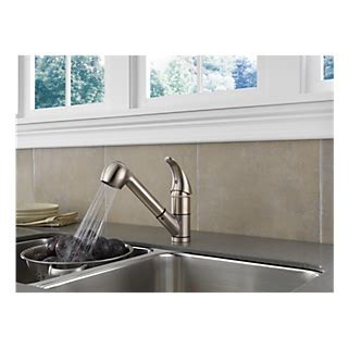 P18550LF SS   Kitchen Pull Out Faucet