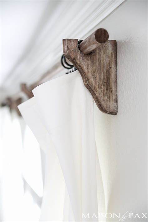 wood curtain rod holders 25 best ideas about curtain rod holders on pinterest