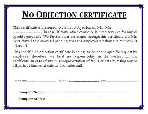 no objection certificate template home rajivagarwalproperty